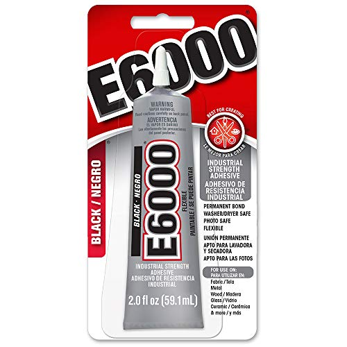 E6000 237039 Multipurpose Adhesive, Black, 2 - 2 Glue Oz Tube Craft