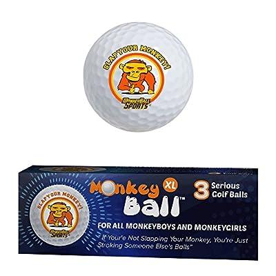 Slap Your Monkey! Ultimate Joke or Prank for Your Buddy's Golf Game!   Gag Golf Balls   3 XL Novelty Golf Balls USGA Conforms   Exploding Golf Ball Power   Funny Golf Balls White Elephant   Golf Gift