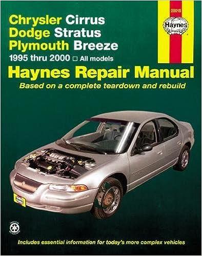 manual chrysler cirrus 2000