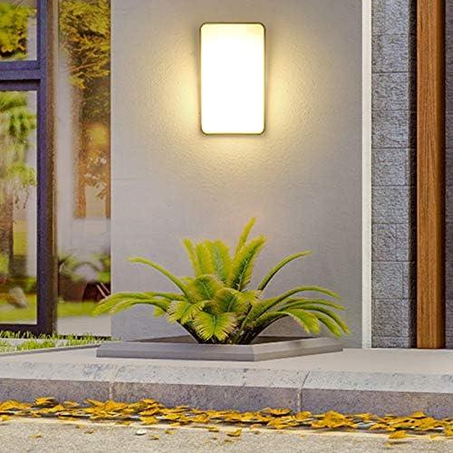 Vintage Industrie Black Metal LED Portal-Licht Aluminium Garten 15W im Freien wasserdichten Balkon LED-Wand-Lampen-Gang-Korridor Villa Tor Wandleuchte (Color : 15W Black Body)