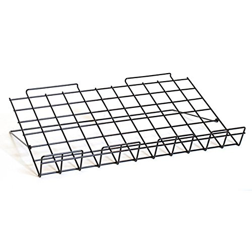 Count of 10 New Black Metal Slatwall Shoe Shelf with Sign Holder 11'' w x 4'' d x 2'' h