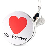 Anvor(TM) Forever Love Crystal Heart 16G USB Flash Drive Memory Stick Data Storage Device Pendant with Necklace & Metal Box Packing, Gift / Present to Lover Girlfriend Boyfriend