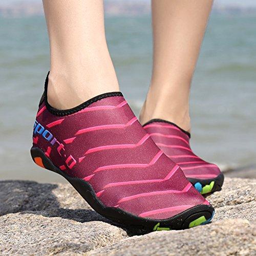 adapté Séchage Femme Chaussures Sports Natation Yoga Gaatpot Surf D'eau Rapide La De Et Antidérapant Aquatiques Plage Rose Respirant Homme Chaussons À w7qq5ztp