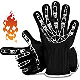 "Heat Guardian Heat Resistant Gloves - Protective Gloves Withstand Heat Up To 932℉ - Use As Oven Mitts, Pot Holders, Heat Resistant Gloves for Grilling - Features 5"" Cuff for Forearm Protection"
