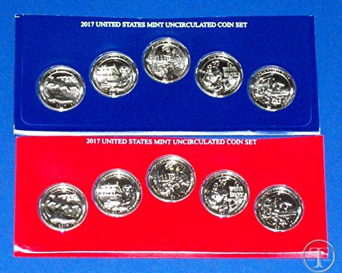 Ten Dollar Gold Coins - 2017 Various Mint Marks America the beautiful 2017 P,D Quarters sealed in Blister Package 10 Coins Brilliant Uncirculated