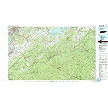 Knoxville TN topo map, 1:100000 scale, 30 X 60 Minute, Historical, 1983, updated 1984, 24.1 x 44.1 IN