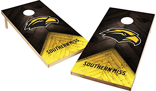 (Wild Sports NCAA College 2'x4' Southern Mississippi Golden Eagles Cornhole Set)