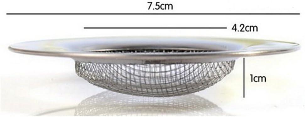 Edelstahl Bad Dusche K/üche Abflusssieb Sieb Filter Netz Haarf/änger Stopper Filter Netz K/üche Badezimmer Zubeh/ör GEZICHTA Abflussfilter