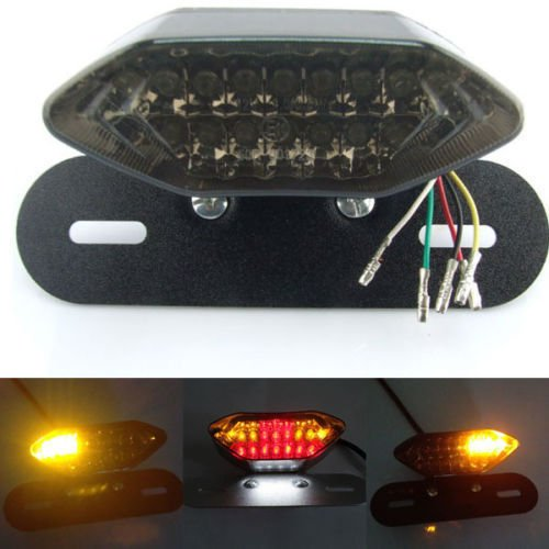 ED Motorcycle Turn Signal Brake License Plate Integrated Tail Light (Indicator Led Plate)
