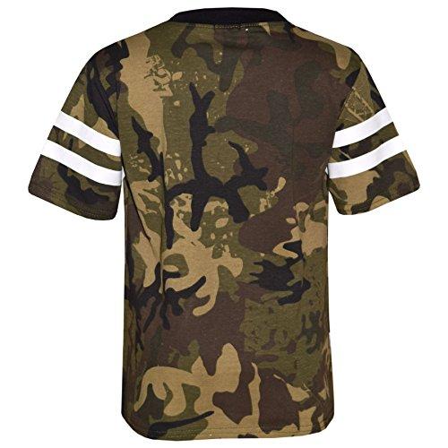 0747d2dc7f2 Boys Top Kids Designer Brooklyn 76 Camouflage T Shirt Tops & Trouser Set  5-13