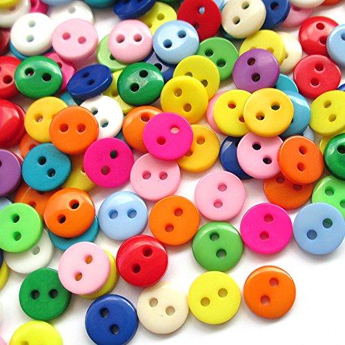 400pcs 9mm Mini Plastic Round Button 2 Holes Craft Clothe Sewing Wholesale