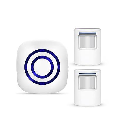 IDABAY Timbre de alarma de inducción inalámbrica Detector de alarma infrarroja Movimiento de alarma digital Home