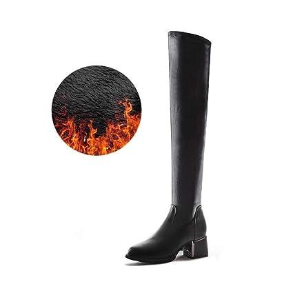 5d932fa578a7c Amazon.com: YaXuan Women's High Boots, Autumn Winter Fashion Knight ...