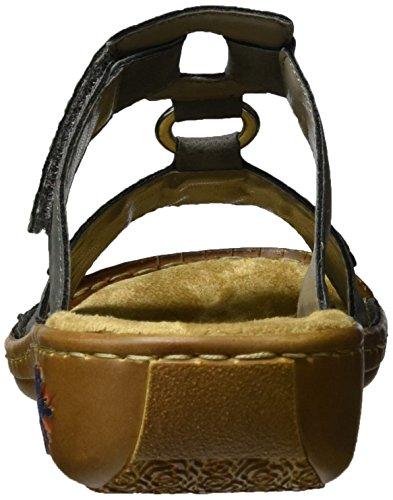 Rieker 60193, Mules para Mujer Gris (Rauch / 45)