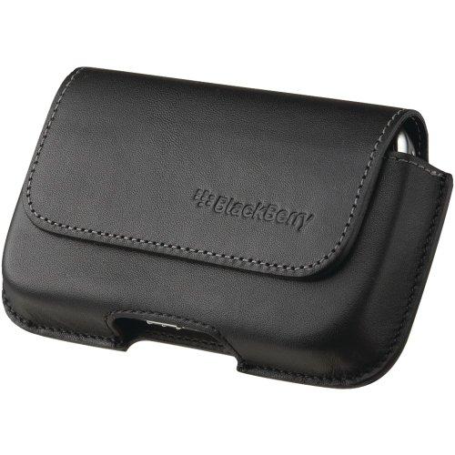 Blackberry 34-1971-01-RM Blackberry 34-1971-01-RM Leather Horizontal Holster for Blackberry 9000 (Black) - 1 Pack - Case - Carrier Packaging - Neutral
