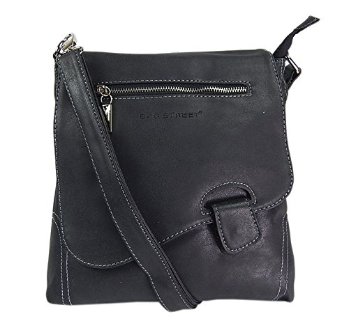 sintético de Bag negro mujer cuero Street cruzados para Bolso wtZxTqZX