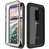 Samsung Galaxy S9 Plus Case,Full Body Rugged Armor Cover Case with Built-in Screen Protector Support Wireless Charging Clear Case for Samsung Galaxy S9+ Plus 2018 Release (Black/Grey) For Sale