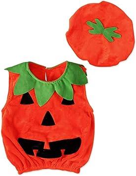 Miyanuby Disfraz de Halloween para Bebé Niños Disfraz de Calabaza ...
