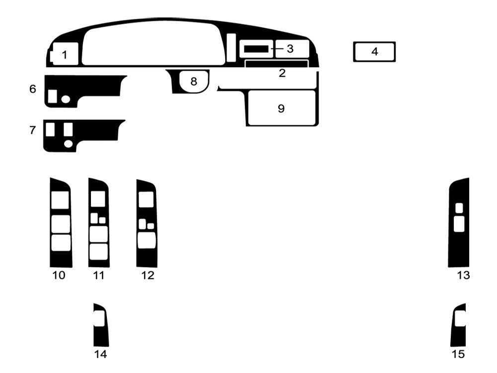 Wood Grain Rvinyl Rdash Dash Kit Decal Trim for Ford F-150 2009-2012 Zebrano Mahogany
