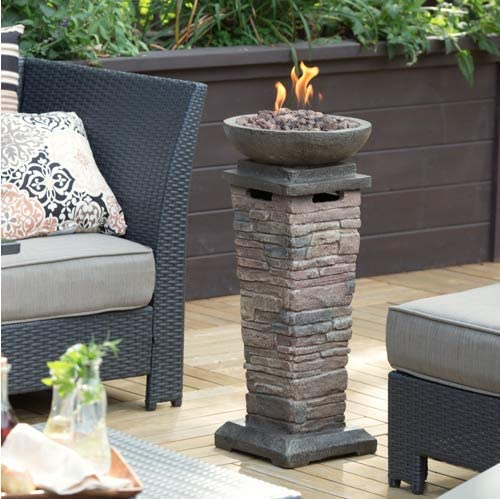 Red Ember Coronado Propane Fire Column Multicolor – 66746