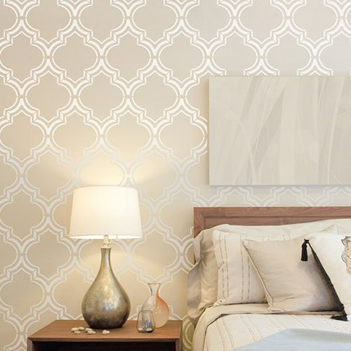 Marokko Dual Dekorative Wandschablone   Schablonen Für Wände   Maler  Schablonen