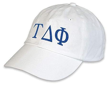 Greekgear Tau Delta Phi Greek hat White at Amazon Men's Clothing