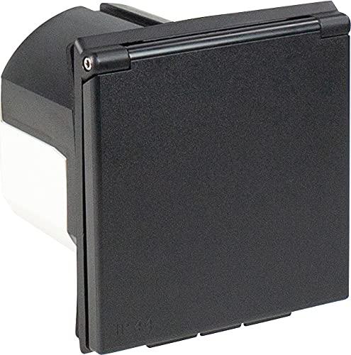 51vcMch4IZS as - Schwabe CEE-Caravan-Einspeisungsstecker – 230 V / 16 A Outdoor Anbau-Stecker mit Klappdeckel – 3-poliger Stecker…