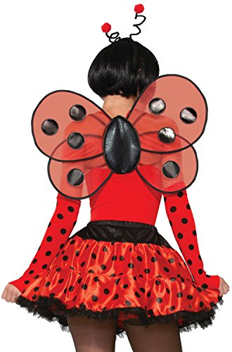 Adult Ladybug Wings (Adult Womens Lady Bug Wings With Shoulder Straps Halloween Costume Accessory)
