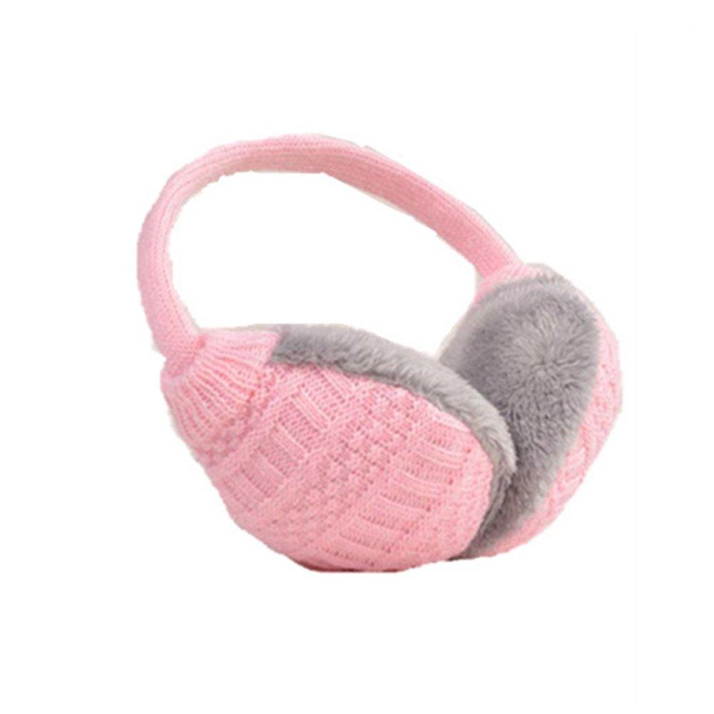 Winter Earmuffs Women Warm Unisex Ear Muffs Winter Ear Cover Knitted Plush Winter Ear Warmers (pink) Nuobo