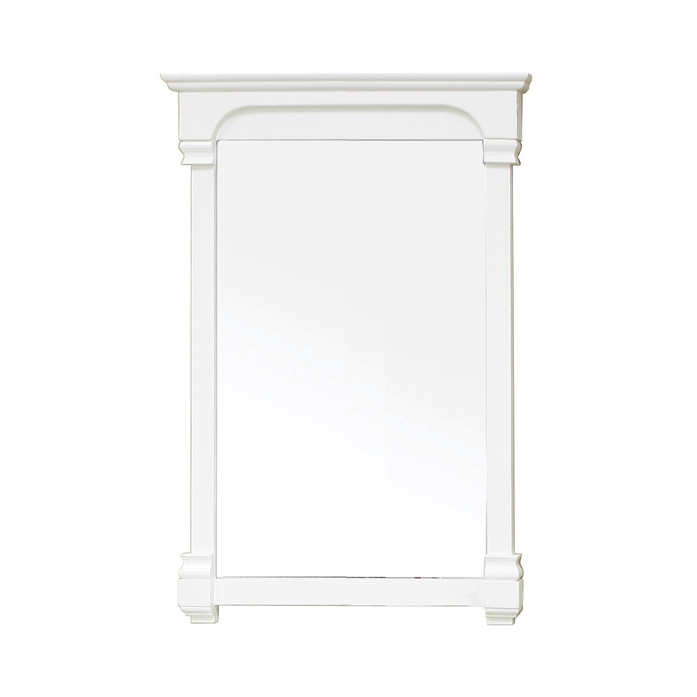 Bellaterra Home 205024-MIRROR-WH 24-Inch Solid Wood Frame Mirror by Bellaterra Home