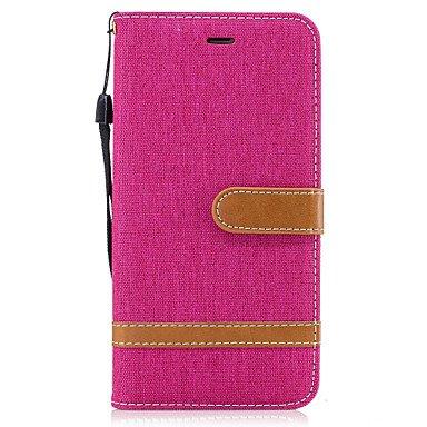 Fundas y estuches para teléfonos móviles, para el iphone de la manzana 7 7 6s caja del teléfono de mezclilla más coloridos, más 6 6s más a 5s 5 6 ( Color : Rojo , Modelos Compatibles : IPhone 6s/6 ) Rosado