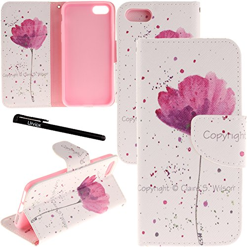 "iPhone 7 Plus / 8 Plus Case, Urvoix Card Holder Stand Leather Wallet Case - Purple Orchid Flip Cover for 5.5"" iPhone 7 Plus / 8 Plus (NOT for iPhone7)"