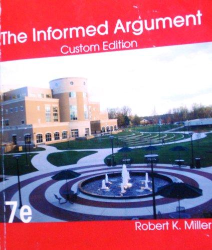 The Informed Argument: Custom Edition