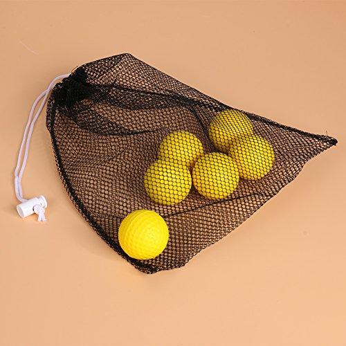 Plastic Practice Golf Training Balls for Indoor Swing Practice Driving Range 25 Pack + Storage Bag