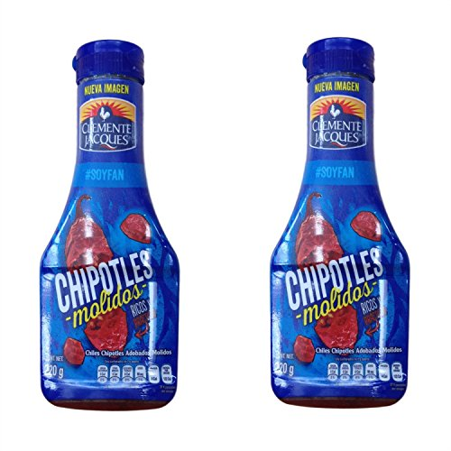 (Chiles Chipotles Relish Molidos Adobados Clemente Jacques - Chipotle Peppers minced in Adobo sauce 7.7 oz Clemente Jacques (Pack of 2) )