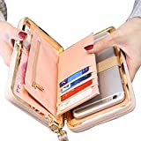 Achieer Women Bowknot Wallet Large Long Purse Phone Card Holder Clutch Capacity Pocket