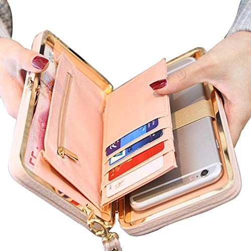 Achieer Women Bowknot Wallet Large Long Purse