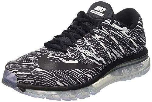 Nike Men''s Air Max 2016 Print Gymnastics Shoes, Bianco (White Black), 12 -