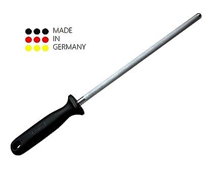 Afilador para cuchillo de Solingen – 34 cm/De Cromo Vanadio Acero Inoxidable//cuchillo afilador Negro
