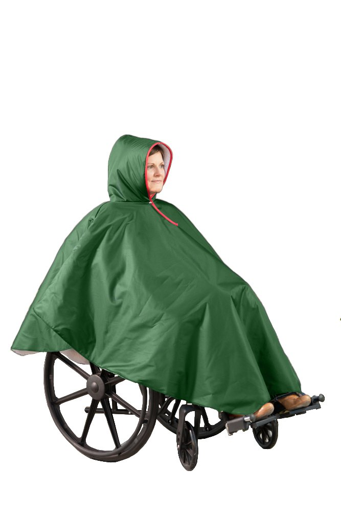 CareActive 9661-0-FOR Wheelchair Winter Poncho-Forest