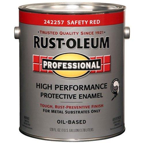 RUST-OLEUM 242257 Professional Gallon Safety Red Protective Enamel (Rust Oleum Gallon)