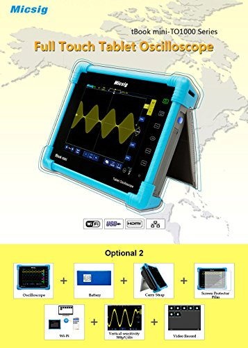 Micsig Digital Tablet Storage Oscilloscope 100/150MHz 4/2CH TO1000 Series (TO1104) (Best Oscilloscope For The Money)
