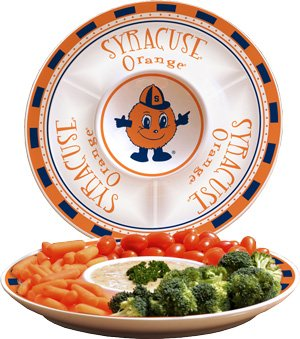 Memory Company NCAA Syracuse University Game Day 2 Chip n Dip, One Size, Multicolor - Syracuse Games Bowl