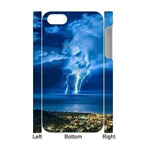SHJFDIYCase Design Custom Lightning Pattern Durable Hard Back 3D Cover Case for Iphone 4,4S, Custom Phone Case SHJF-525388