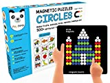 Play Panda Magnetic Puzzles Circles with 250 magnets, magnetic board, puzzle book with 100 puzzles, display stand