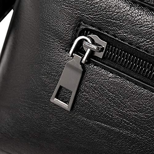 Moda a cerniera della di ragazza donne dell'unità borsa Colore magnetica Nero a solido elaborazione chiusura Republe delle Borse Crossbody tracolla w7qO61nF