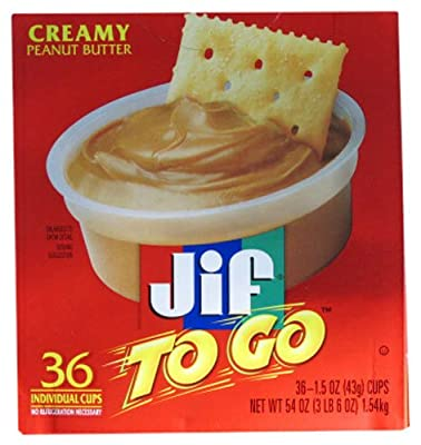 Jif To Go Creamy Peanut Butter (36 cups - 1.5oz each) from Unknown