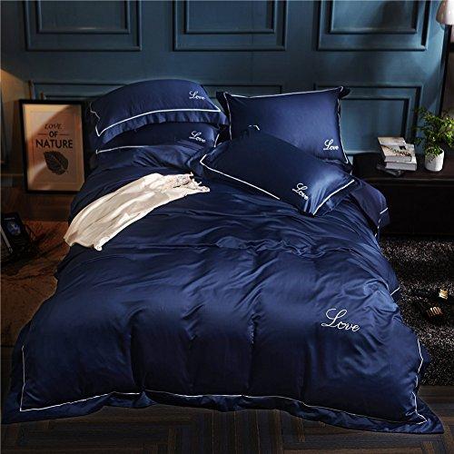 48*74cm Silky Pillow Cover Comfortable Pillowcase Blue - 6