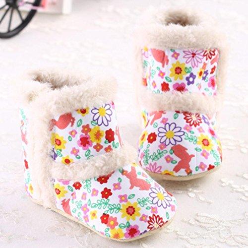 Jamicy® Kleinkind Floral bedruckt Schuhe Mode Mädchen Winter weiche warme Winterstiefel