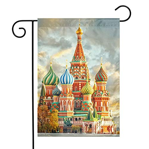 Kjaoi Red Square Moscow Festival Garden Flag Front Door Flag Decorative Home Outdoor Flag 1218 Inch]()